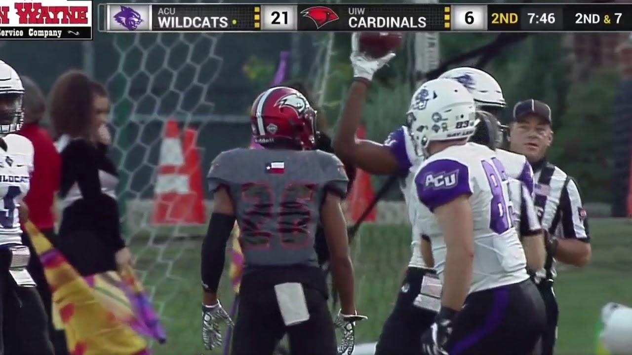 Abilene Christian Highlights From Acu Uiw Sept 30th 2017 Youtube