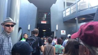 Inside the the Incredible Hulk roller coaster queue at Islands of Adventure.
