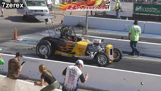 Ford Roadster Drag Racing ANTIQUE DRAGS barona drag strip 10-12- 2019