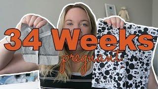 34 weeks pregnant   baby blanket squares