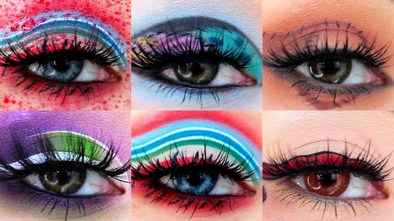Halloween Inspired Eye Makeup.5 Easy Last Minute Halloween Eye Makeup Looks 2019 Inspired By Top Halloween Movies Youtube