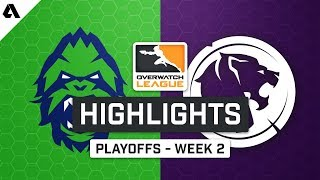 Vancouver Titans vs LA Gladiators | Playoffs Week 2 | Day 4 - Overwatch League S2 Highlights