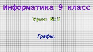 Информатика 9 класс (Урок№2 - Графы.)