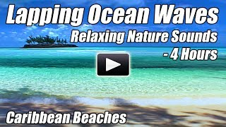 Ocean Waves Lapping Relaxing Nature Sounds of Water 4 Meditation Relax Study Focus sleep video Hour