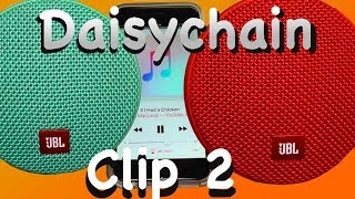 How to daisy-chain two JBL Clip2 bluetooth speakers