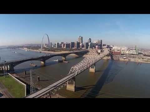 Saint Louis Riverfront and Musial Bridge