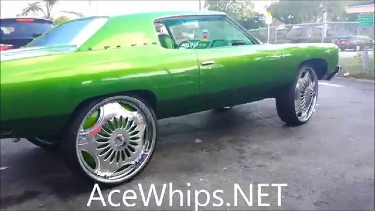 Acewhips Net Candy Green Chevy Donk On 30 Quot Dub Super Nova