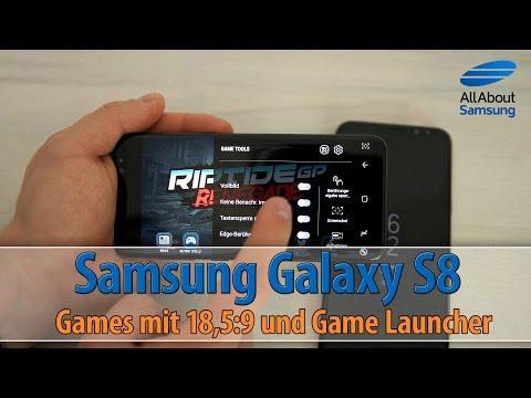 Samsung Galaxy S8 Gameplay, Game Launcher und alle Apps auf 18,5:9 DE/4k