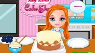 Барби делает торт.  ОНЛАЙН-Игра ДЛЯ ДЕВОЧЕК