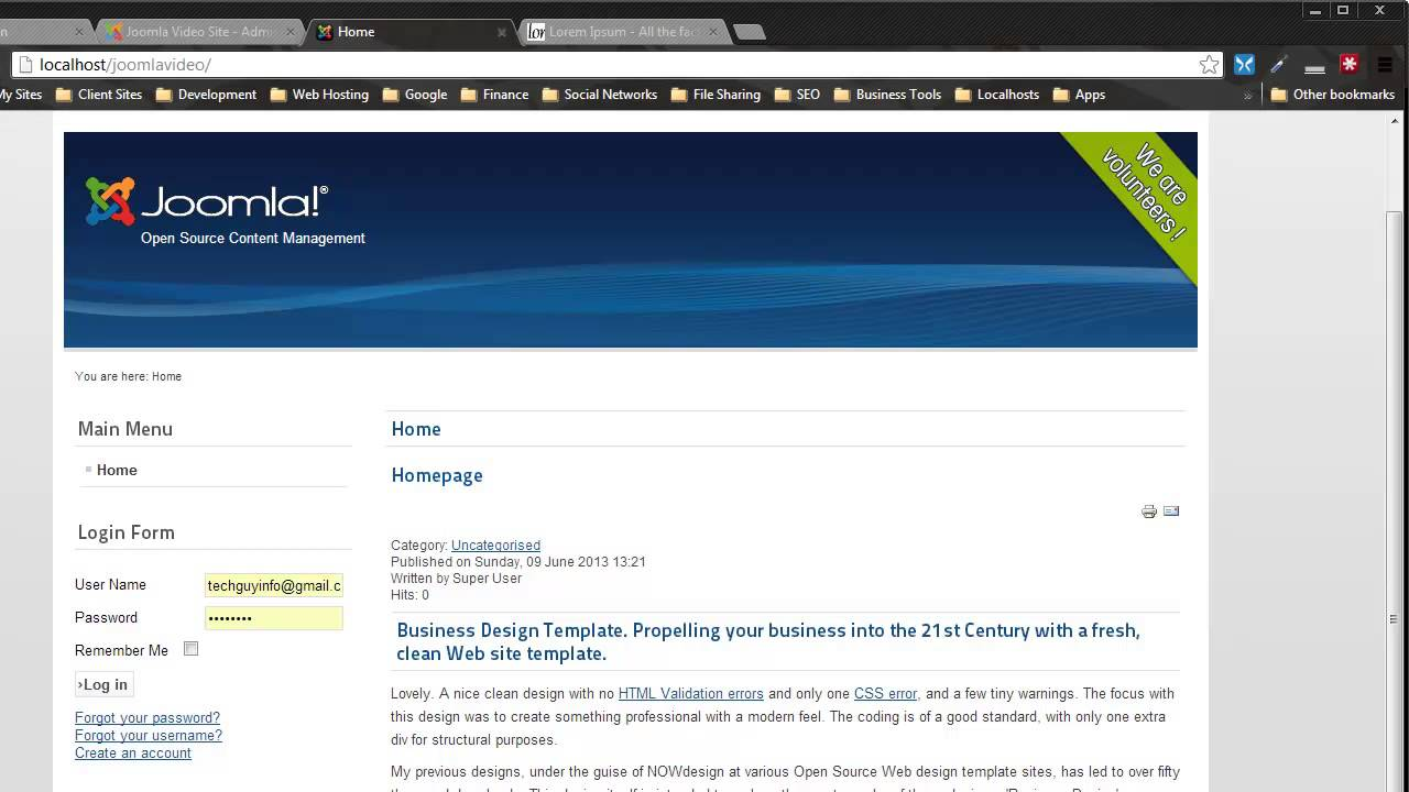Convert an HTML Template to Joomla 2.5/3.0 - Part One - YouTube