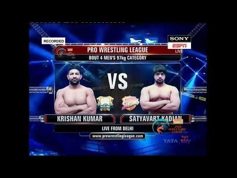 PWL 2017: Krishan Kumar Vs Satyavart Kadian 8th Jan | NCR Punjab Royals Vs Colors Delhi Sultans