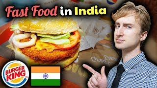 BURGER KING INDIA: Tasting 5 Indian Burgers for the First Time!