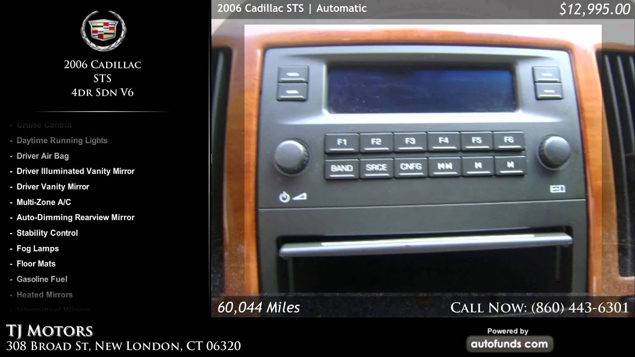 Used 2006 cadillac sts tj motors new london ct sold for Tj motors new london ct