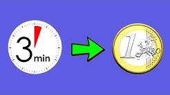 1€ alle 3 Minuten online Geld verdienen 💸💰🕒