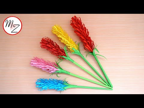 How to make beautiful paper flowers in just 5 minutes | Easy hyacinth paper flower tutorial