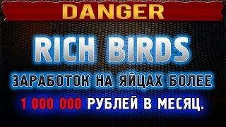 RICH BIRDS - заработок на яйцах или лохотрон на 1 000 000 ?!