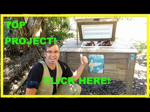 How to Build a Cooler Box. Rustic and Ultra Cool Using Recycled Wood.