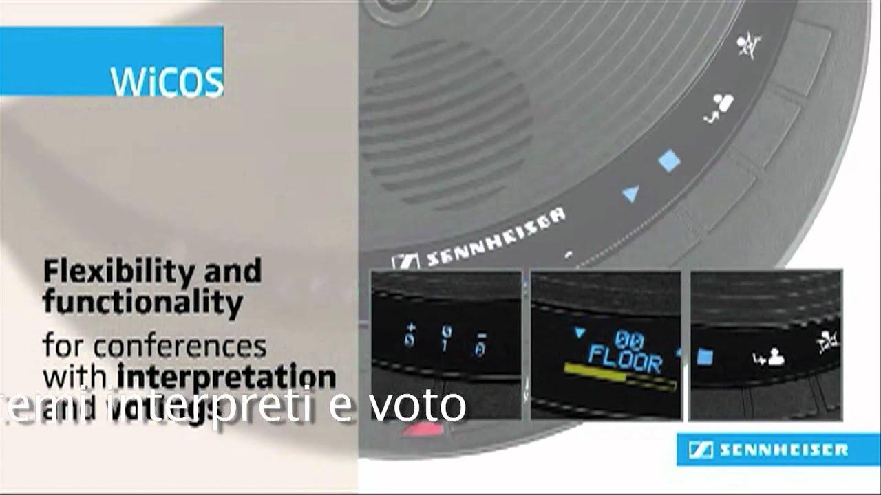 Wicos sistema conferenze wireless di sennheiser distribuito da