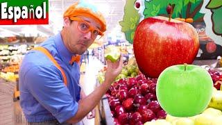 Blippi Español De Donde Vienen las Manzanas | Tour por la Fábrica de Manzanas | Frutas para Niños