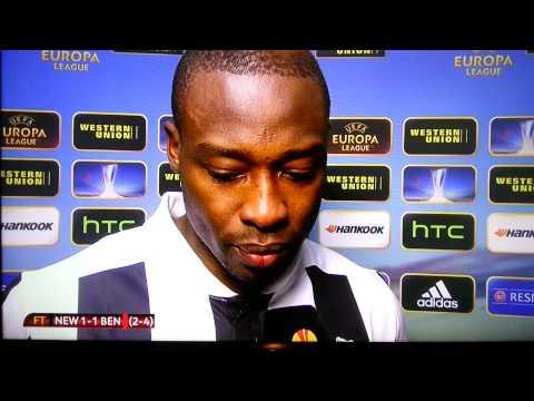 Newcastle 1 - 1 Benfica SHOLA AMEOBI INTERVIEW 11/04/2013