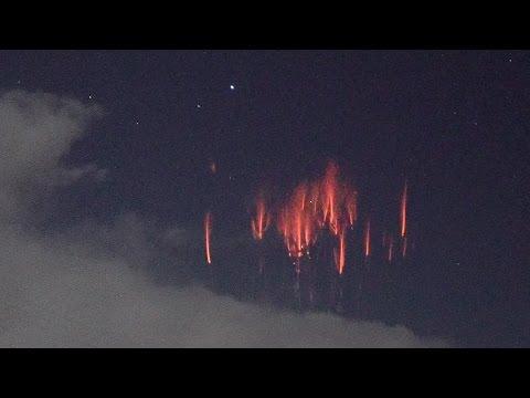 RED SPRITE BURSTS (Realtime & Slow Motion) Supercell Lightning Storm