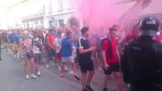Navijači Rangers Glasgow v Mariboru