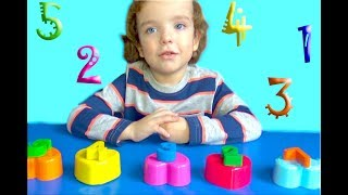 Makar learn number 1 to 5 with   kinetic sand