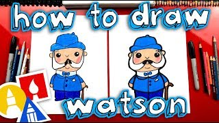 How To Draw Watson From Sherlock Gnomes - GIVEAWAY!