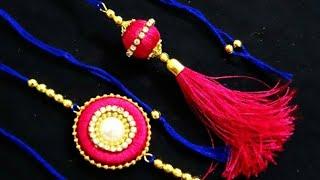 how to make beautiful silk thread rakhi at home | lumka rakhi | Couple rakhi | Rakhi making ideas