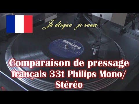 Comparaison de pressage vinyle 33 tours Philips Mono/Stéréo (Brel)