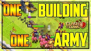AN ARMY vs. ONE Building... Clash of Clans LIVE Attacks!