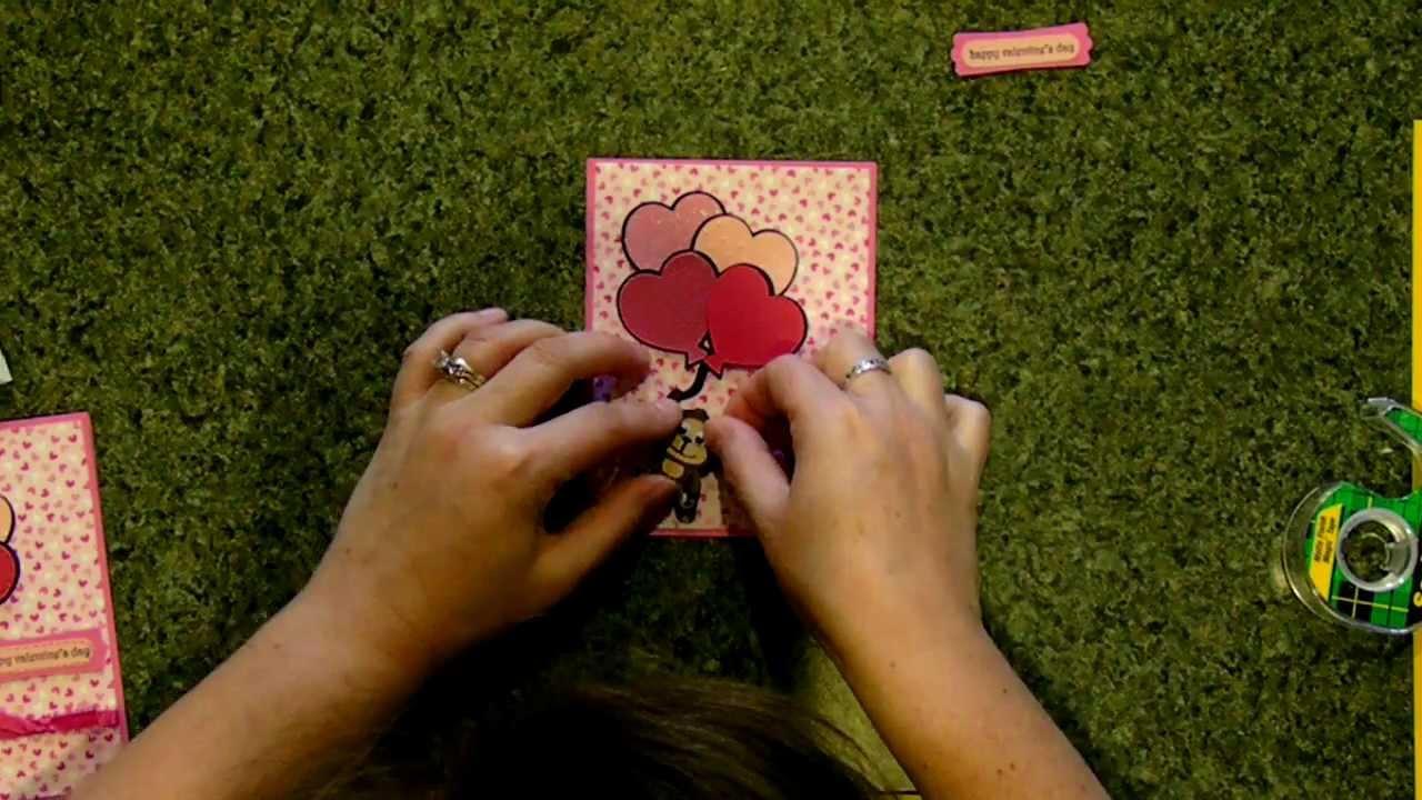 Cricut Valentine S Day Card Create A Critter Youtube