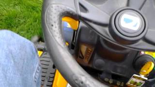 driving the cub cadet ltx1040 automatic