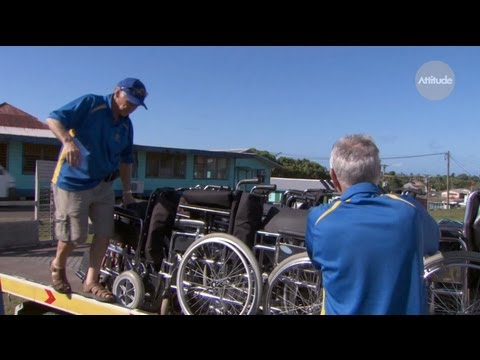 Rotarians Gift to Disabled Samoans