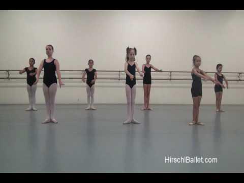 beginning level Ballet port de bras combination