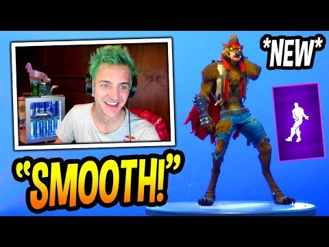 "NINJA REACTS TO *NEW* ""SMOOTH MOVES"" EMOTE/DANCE! *EPIC* Fortnite FUNNY & SAVAGE Moments"