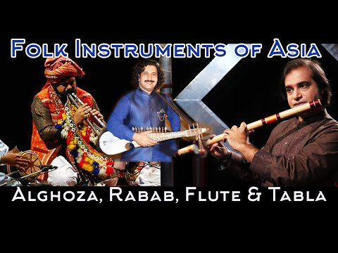 Musical Instruments of Pakistan Flute, Rubaab, Alghoza & Tabla, Sounds of Pakistan