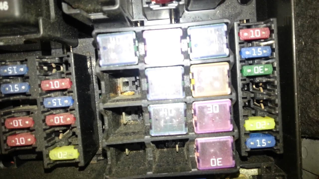 1999 Jeep Cherokee Fuse Box Wiring Diagram Mazda 6 2005 Relays Fusebox Youtube