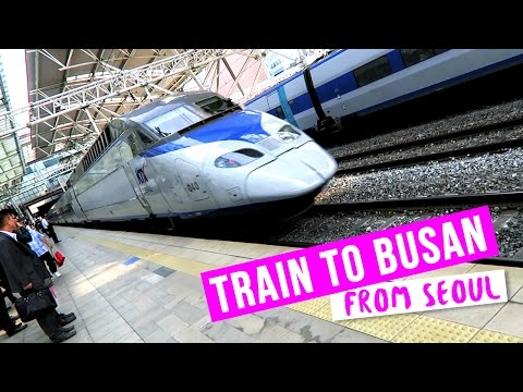 Riding the Train to Busan from Seoul ♦ Tour of KTX Train