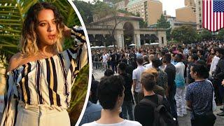 Mass Tinder date: Womans gets mobs of men for mega date - TomoNews