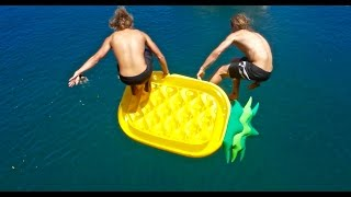 INFLATABLE CLIFF JUMP!!!!
