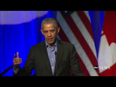 Former President Obama discusses climate change at summit with mayors from around the world