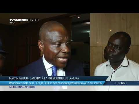Présidentielle RDC : réunion de la CENI, la SADC et les candidats à la présidentielle