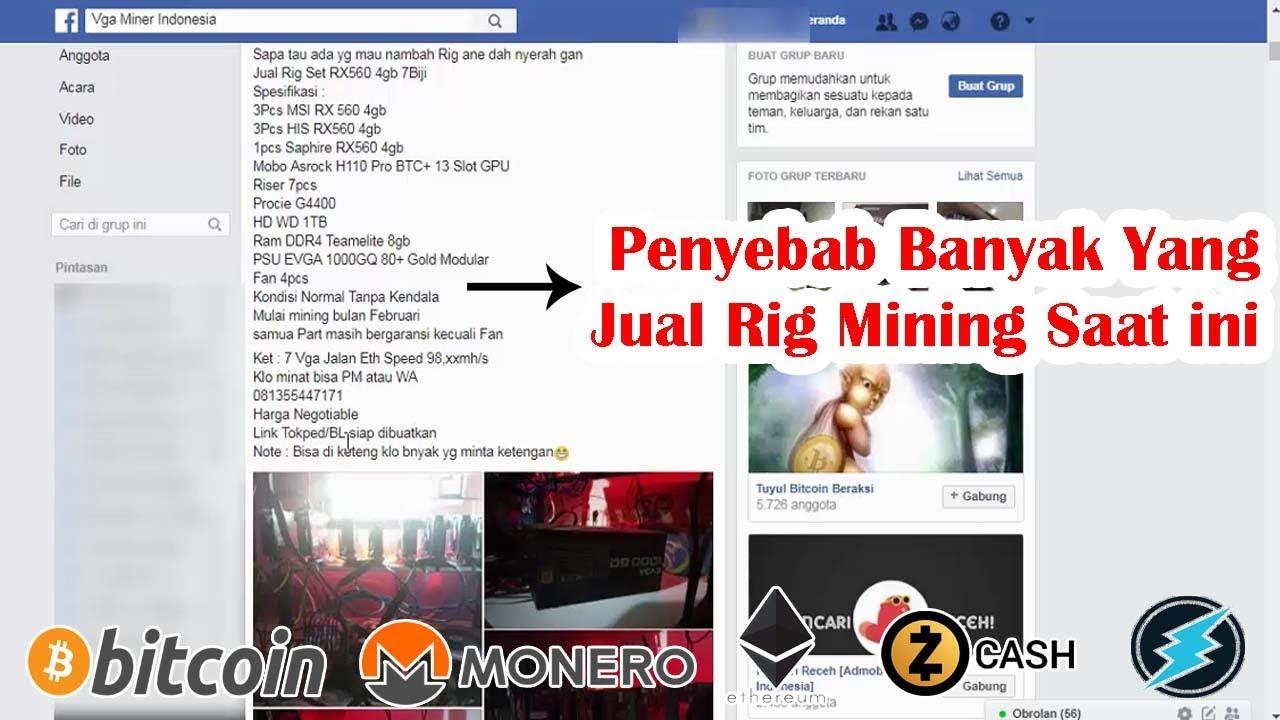 Penyebab Banyak Yang Jual Rig Mining Saat ini - Mining Bitcoin