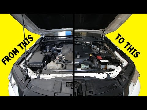 Fortuner Engine Bay cleaning plus stealth 3rd break light install (DIY)