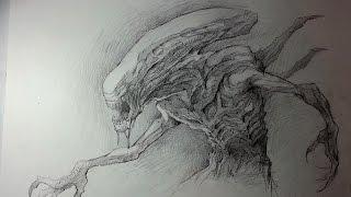 Speed Drawing - Alien