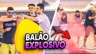 DESAFIO DO BALÃO GIGANTE EXPLOSIVO!! thumbnail