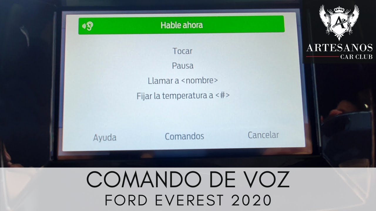 Ford Everest 2020 | Comando de voz  | Artesanos Car Club