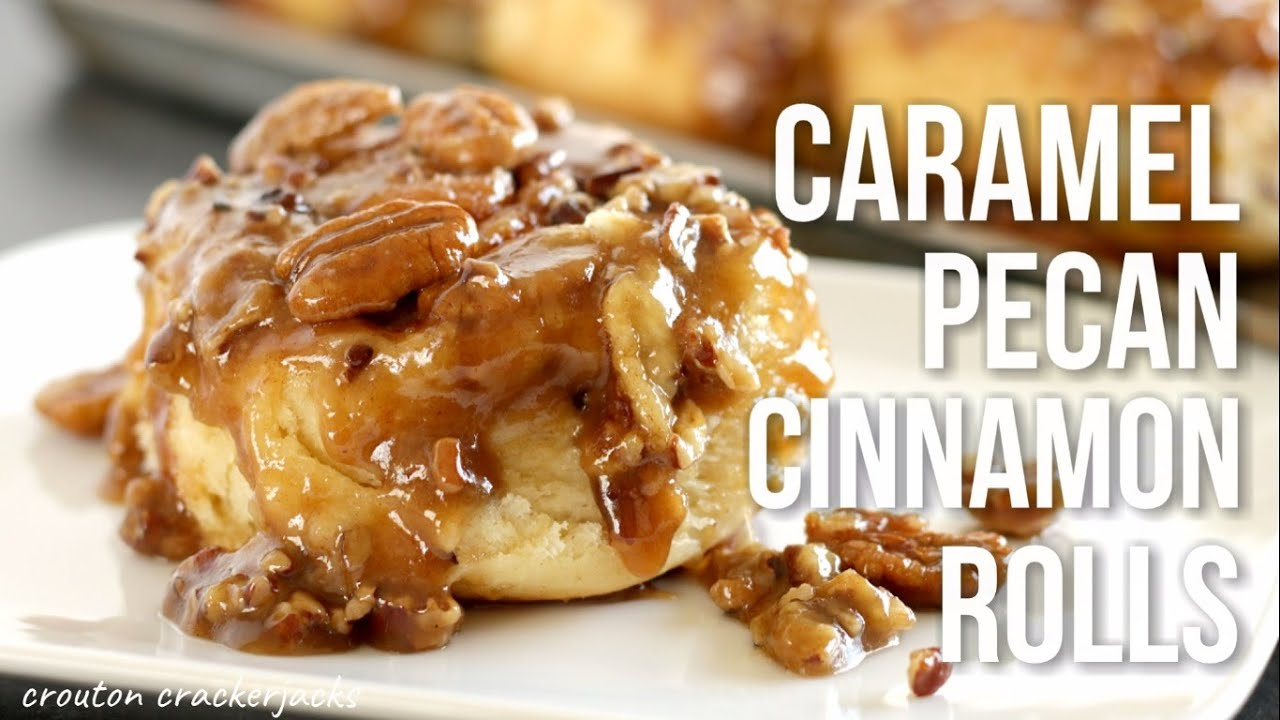 Caramel Pecan Cinnamon Rolls!! Homemade Sticky Buns Recipe - YouTube