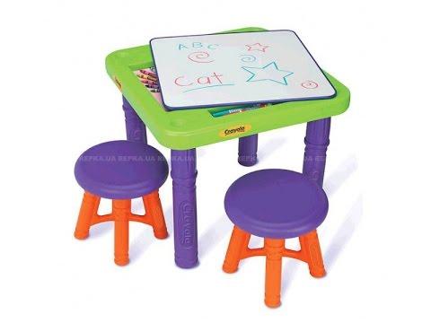 Crayola. Стол и стульчики. Игрушка. Обзор. Рисуем на столе
